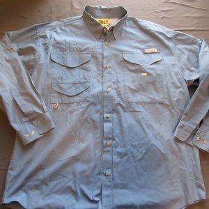 Columbia PFG Long Sleeve Fishing Shirt Sz XL